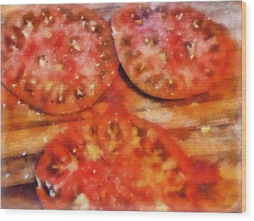 Heirlooms With Salt And Pepper Wood Print by Michelle Calkins