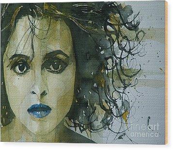 Helena Bonham Carter Wood Print by Paul Lovering