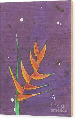 Heliconia Wood Print