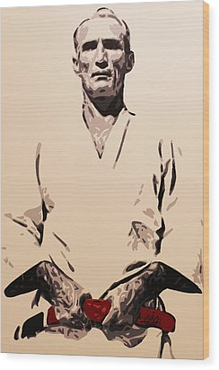 Helio Gracie Wood Print