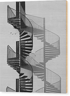 Helix Wood Print by Inge Riis McDonald