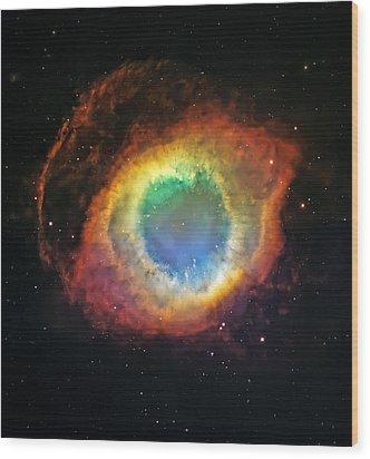 Helix Nebula 2 Wood Print by Jennifer Rondinelli Reilly - Fine Art Photography