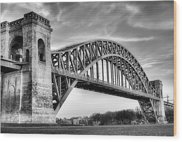 Hell Gate Bw Wood Print by JC Findley