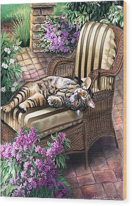 Hello From A Kitty Wood Print by Regina Femrite