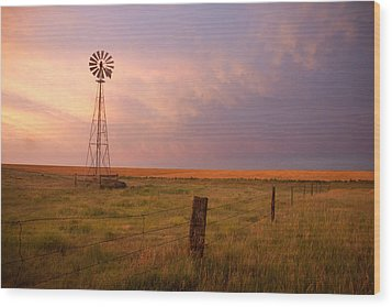 Hello Kansas Wood Print