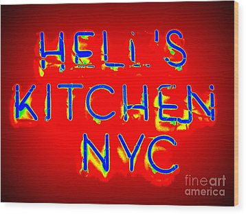 Hell's Kitchen Nyc Wood Print by Ed Weidman