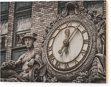 Helmsley Building Clock Wood Print