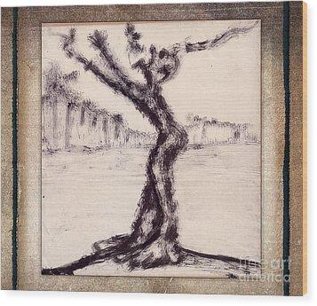 Help Wood Print by Bedros Awak