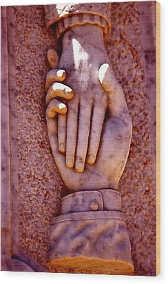Helping Hand Wood Print by Michael Cinnamond