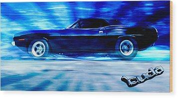 Hemi Cuda Wood Print by Phil 'motography' Clark