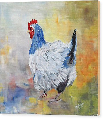 Hen Wood Print by Dorothy Maier
