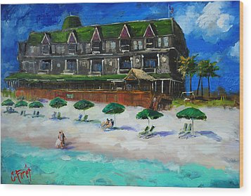 Henderson Inn Destin Florida Wood Print
