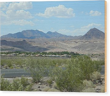 Wood Print featuring the photograph Henderson Nevada Desert by Emmy Marie Vickers