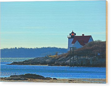 Wood Print featuring the photograph Hendricks Head Lighthouse 2 by Amazing Jules