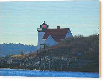 Wood Print featuring the photograph Hendricks Head Lighthouse by Amazing Jules