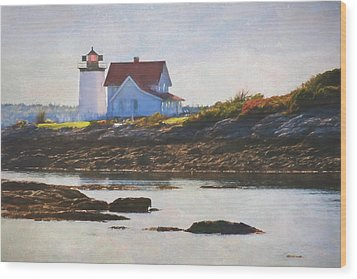 Hendricks Head Lighthouse - Maine Wood Print by Jean-Pierre Ducondi