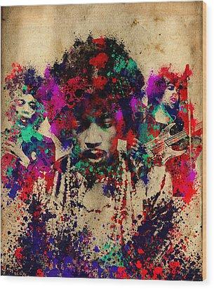 Hendrix 2 Wood Print by Bekim Art