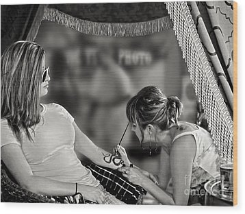Wood Print featuring the photograph Henna At The Fair by Jennie Breeze