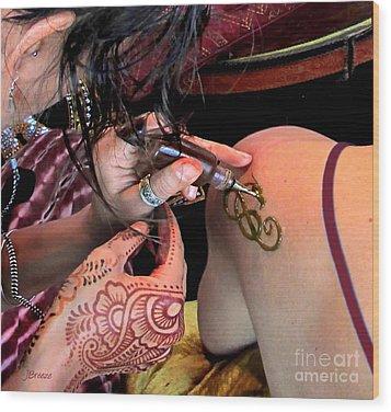 Henna Ocf Wood Print by Jennie Breeze
