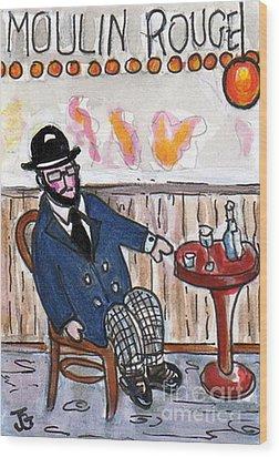 Henri Always Enjoys His Evenings. Wood Print by Joyce Gebauer