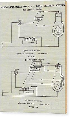 Henricks Magnetos 1906 No.1 Wood Print