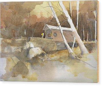 Henry Bridge In Fall  Wood Print by Robert Yonke