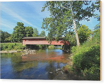 Wood Print featuring the photograph Henry Bridge by Trina  Ansel