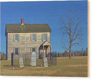 Henry House In Winter / Manassas National Battlefield Wood Print