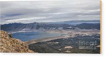 Henry Lake Wood Print by Robert Bales