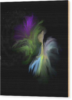 Wood Print featuring the digital art Her Favorite Flower by Jessica Wright