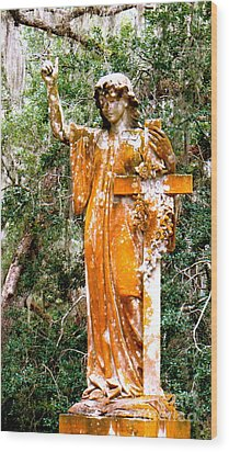 Wood Print featuring the photograph Her Guardian Angel by Joy Hardee