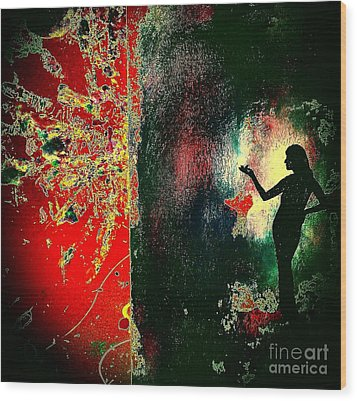 Her Power To Create Wood Print by Jacqueline McReynolds