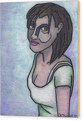 Her Smile Wood Print by Kamil Swiatek