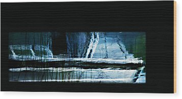 Her Watery Grave Wood Print by Theresa Tahara