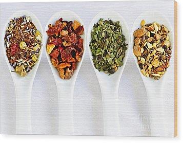 Herbal Teas Wood Print by Elena Elisseeva