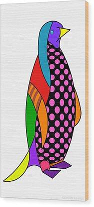 Wood Print featuring the digital art Herbie by Randall Henrie