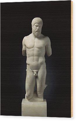 Hercules. 5th C. Bc. Roman Copy. Greek Wood Print by Everett
