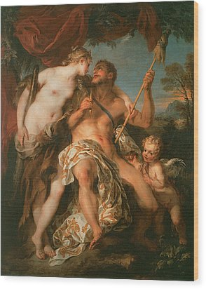 Hercules And Omphale Wood Print by Francois Le Moyne