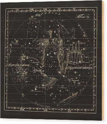 Hercules Constellations, 1829 Wood Print by Science Photo Library