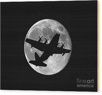 Hercules Moon Wood Print