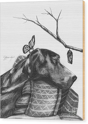 Wood Print featuring the drawing Here Comes Life by J Ferwerda