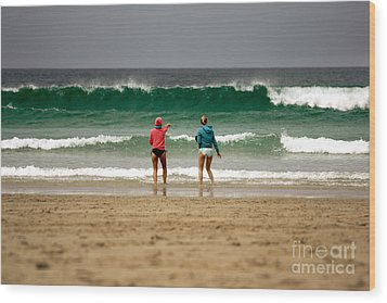 Wood Print featuring the photograph Here Comes The Big One by Terri Waters