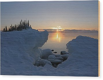 Here Comes The Sun Wood Print by Sandra Updyke