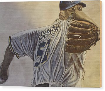 Here It Comes Wood Print by Dan Wagner