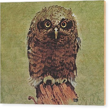 Here's Looking At You Wood Print by Richard Hinger