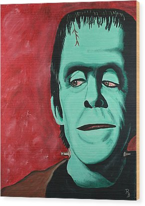 Herman Munster - The Munsters Wood Print by Bob Baker