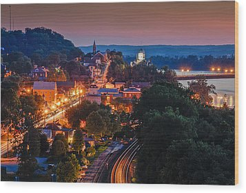 Hermann Missouri - A Most Beautiful Town Wood Print by Tony Carosella