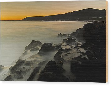 Hermanus Sunset Wood Print by Aaron Bedell