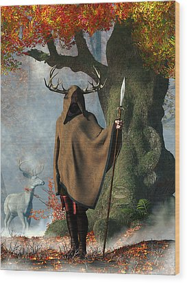 Herne The Hunter Wood Print by Daniel Eskridge