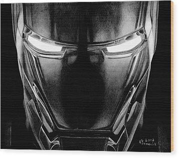 Hero In Shining Iron Wood Print by Kayleigh Semeniuk